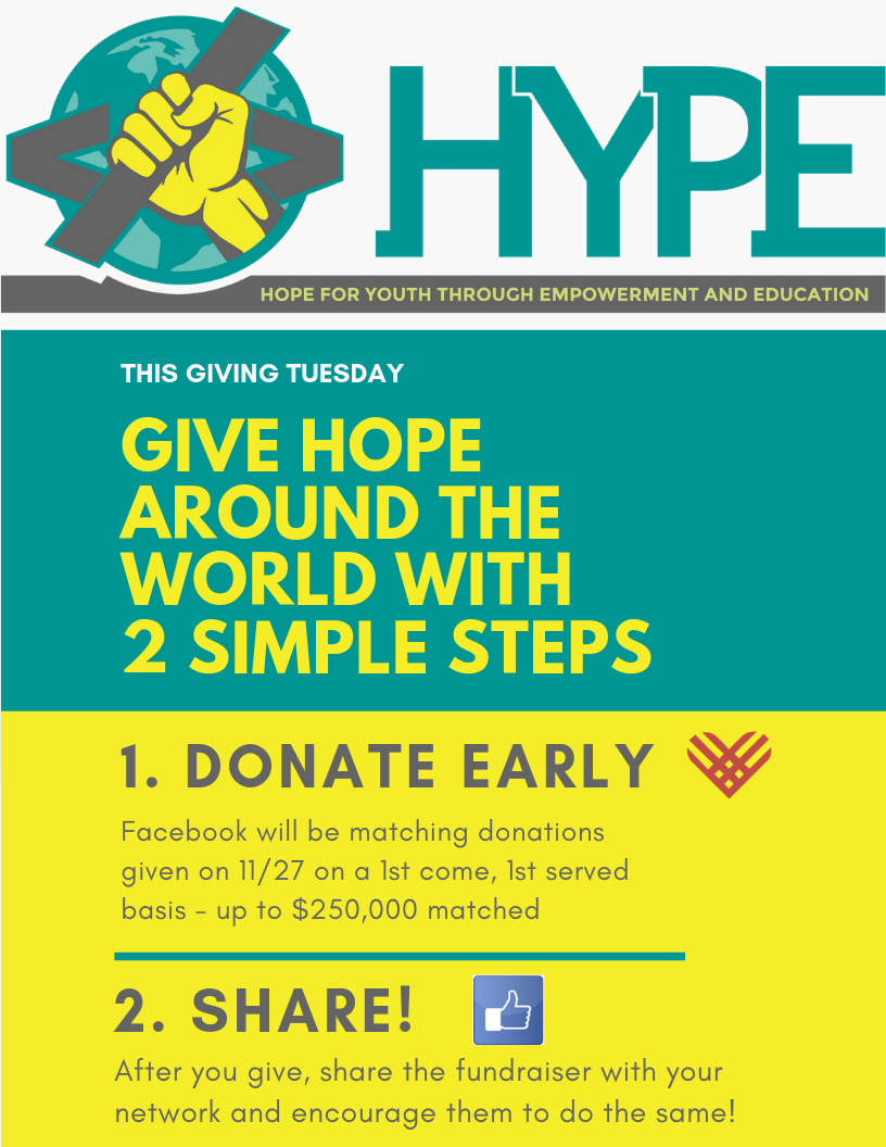 Giving Tuesday - 2 Steps